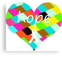 Colorful Hope Heart Canvas Print