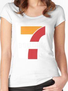 Building 7 Subversive '7 Eleven' Logo - Smoking Gun of 9/11 Women's Fitted Scoop T-Shirt