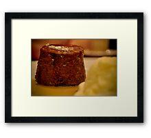 Sticky Date Pudding  Framed Print