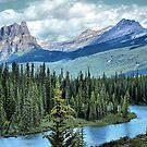 Castle Mountain and Bow River, Banff NP by Vickie Emms