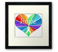 Hope Heart Color Burst Framed Print