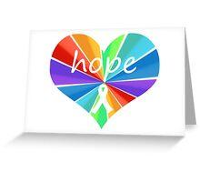 Hope Heart Color Burst Greeting Card