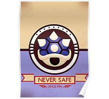 Never Safe - Mario Kart Print Poster