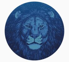 Blue Lion Bubble portrait by cheerfulmadness