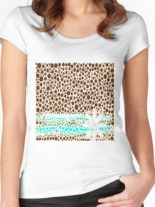 Over Land And Sea Women's Fitted Scoop T-Shirt