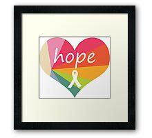 Hope Heart Rainbow Pie Framed Print