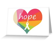 Hope Heart Rainbow Pie Greeting Card