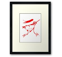 Monkey D Luffy Soft Art Framed Print