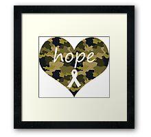 Hope Heart Camo Framed Print