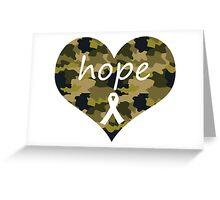 Hope Heart Camo Greeting Card