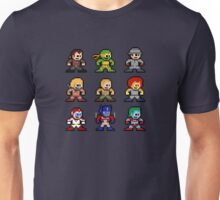 8-bit 80s Cartoon Heroes Unisex T-Shirt