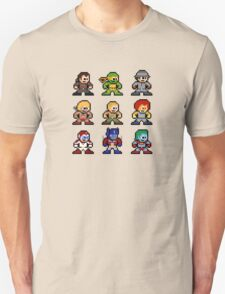 8-bit 80s Cartoon Heroes Unisex T-Shirt
