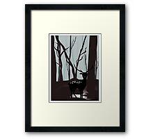 Oh, Deer Me Framed Print