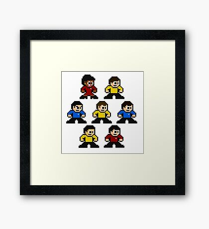 8-bit Star Trek: The Original Series Framed Print