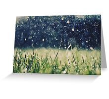 This is Summer Rain Greeting Card
