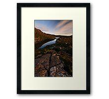 Dawn Hues on Tarn Shelf Framed Print