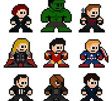 8-bit Movie Avengers by 8 Bit Hero