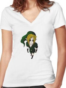 Creepy Link Women's Fitted V-Neck T-Shirt