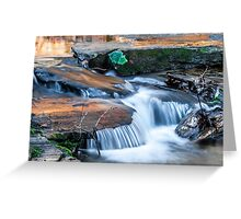 Cascading water down the Carreck Creek Greeting Card