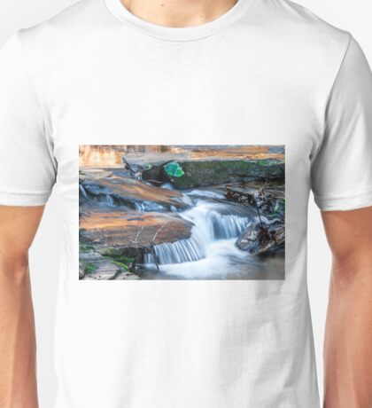 Cascading water down the Carreck Creek Unisex T-Shirt