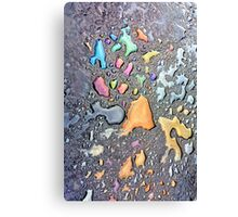 The Colors on the Pavement Canvas Print