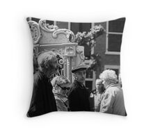 Saturday Afternoon Barrel Organ Exhibit Throw Pillow