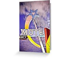 Star Motel Greeting Card