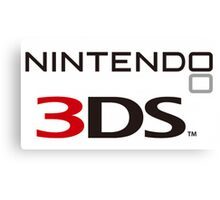 Nintendo 3DS Logo Canvas Print
