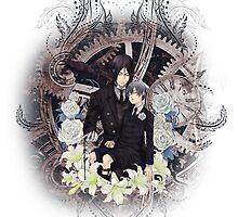 Kuroshitsuji (Black Butler) - Ciel Phantomhive & Sebastian Michaelis 4 by IzayaUke