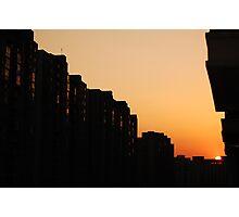 Balcony Sunset Photographic Print
