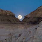 Moonrise in the Bisti by TheBlindHog