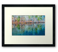 Reflections on  Pinnacle Lake Framed Print