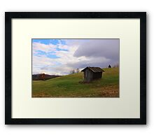 Hillside Barn Framed Print