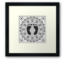 Feet Mandala Framed Print