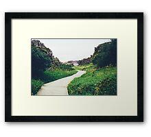 Pier in the Marsh Framed Print