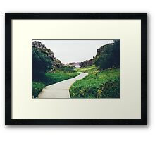 Pier in the Marsh Framed Print