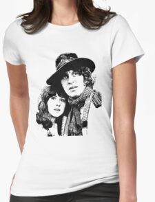 4th Doctor and Sarah-Jane Womens Fitted T-Shirt