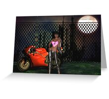 biker chick Greeting Card