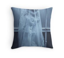 Blue Antique Ghosts Throw Pillow