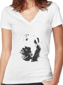 Jumping Joe - my lovely Airedale Terrier Women's Fitted V-Neck T-Shirt