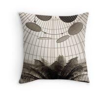 Sepia Fern in Antique Glasshouse Throw Pillow