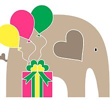 Happy Birthday Elephant by Elephant Love
