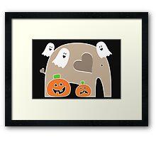 Happy Halloween Elephant Framed Print
