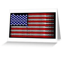 Bike USA Flag Greeting Card