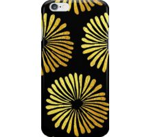 Gold daisies pattern iPhone Case/Skin