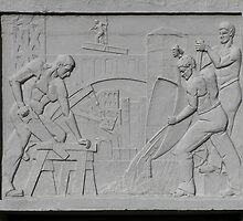 art deco style bas relief, richmond by Christopher Biggs