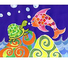Flying fish and Turtle Photographic Print