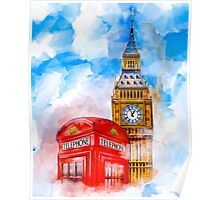 London Dreams - Big Ben & An Iconic Red Telephone Box Poster