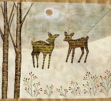 WInter Tale (deer) by naokosstoop