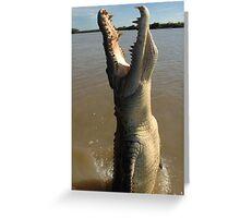 Jumping Crocodile Greeting Card